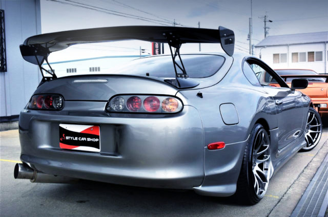 REAR EXTERIOR OF JZA80 SUPRA RZ-S TO SILVER.