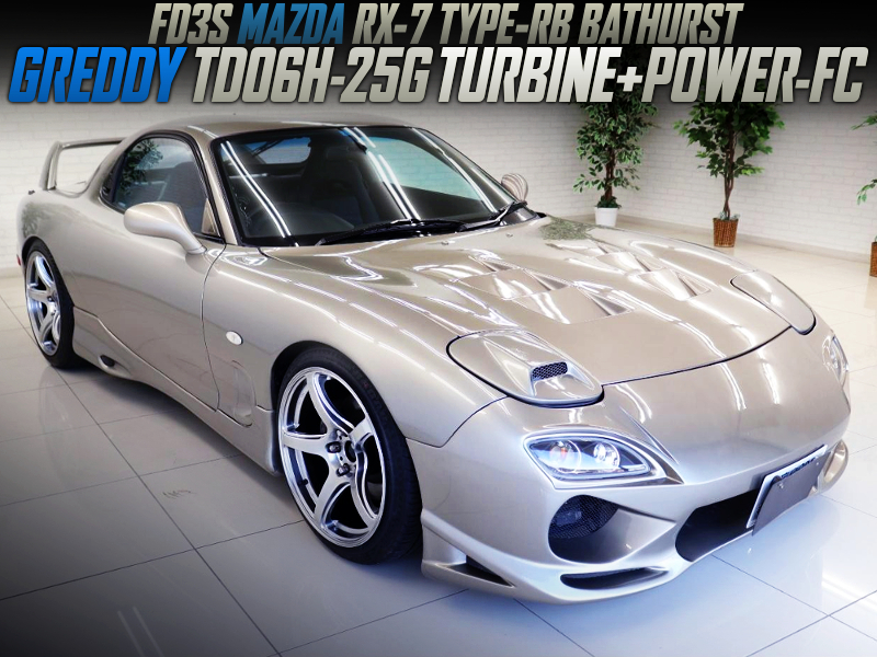 TD06H-25G TURBINE AND POWER-FC INTO FD3S RX-7 TO SILVER GOLD.