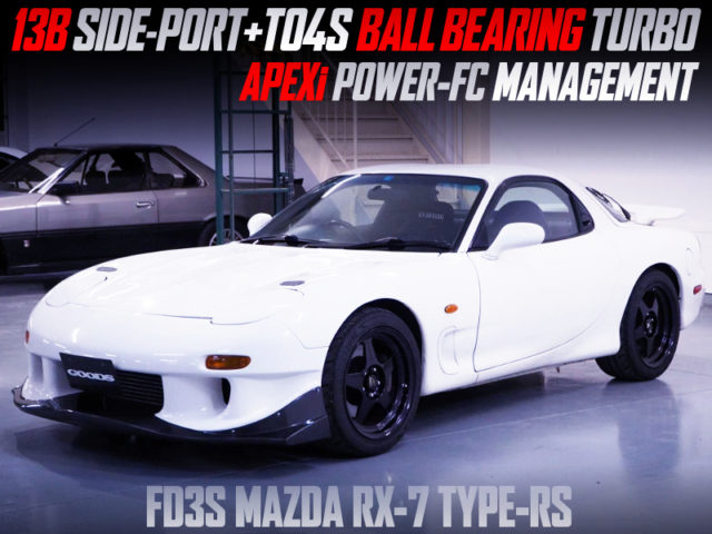 13B-REW SIDE PORT With TO4S BB TURBO INTO FD3S MAZDA RX-7 TYPE-RS.