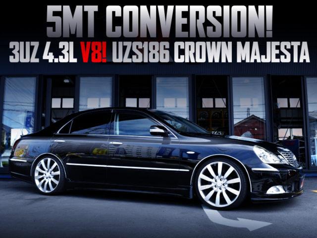5MT CONVERSION TO UZS186 CROWN MAJESTA C-TYPE BLACK.