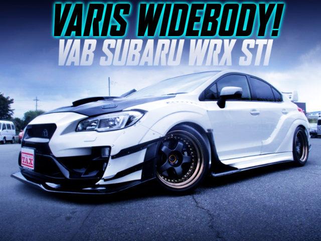 VARIS WIDEBODY OF VAB SUBARU WRX STI TO WHITE.
