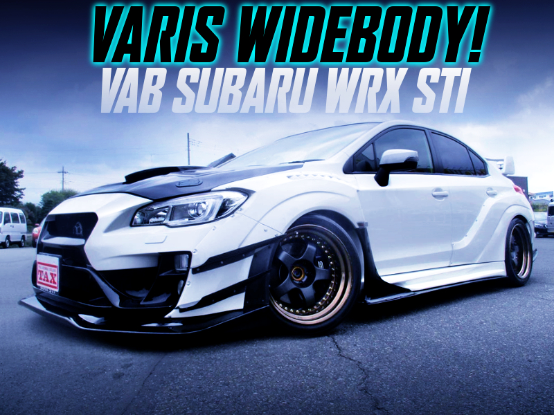VARIS WIDEBODY OF VAB SUBARU WRX STI TO WHITE.