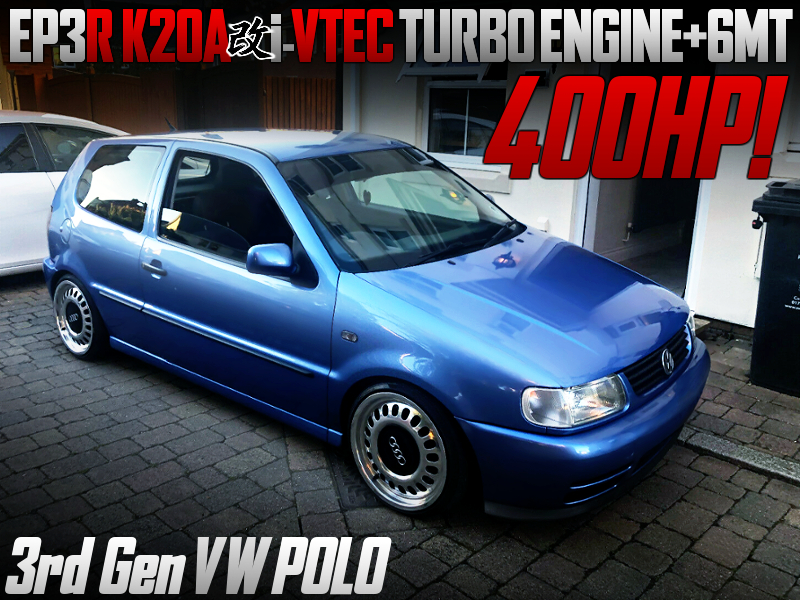 K20A I-VTEC TURBO ENGINE With 6MT INTO 3rd Gen VW POLO.