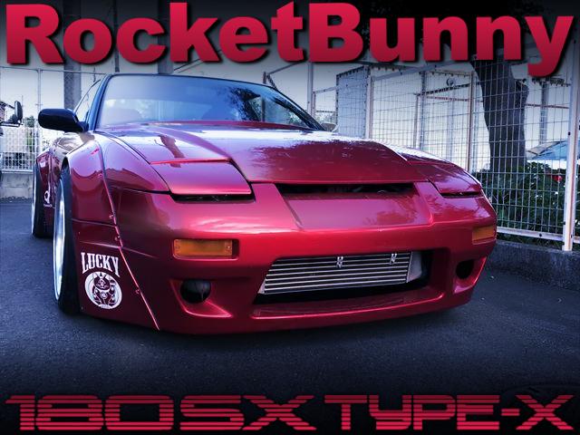 ROCKET BUNNY V2 WIDEBODY OF 180SX TYPE-X.