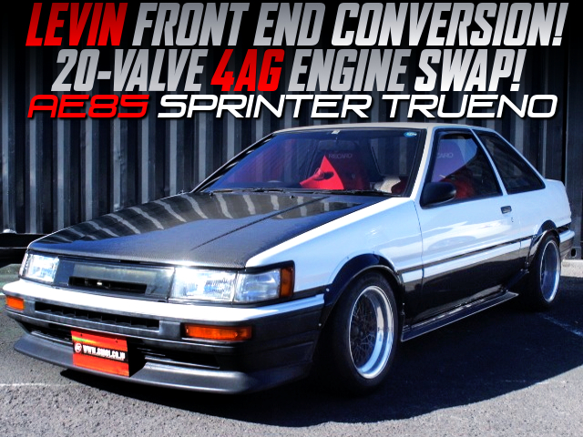 LEVIN FRONT END And 20V 4AG CONVERSION TO AE85 TRUENO.