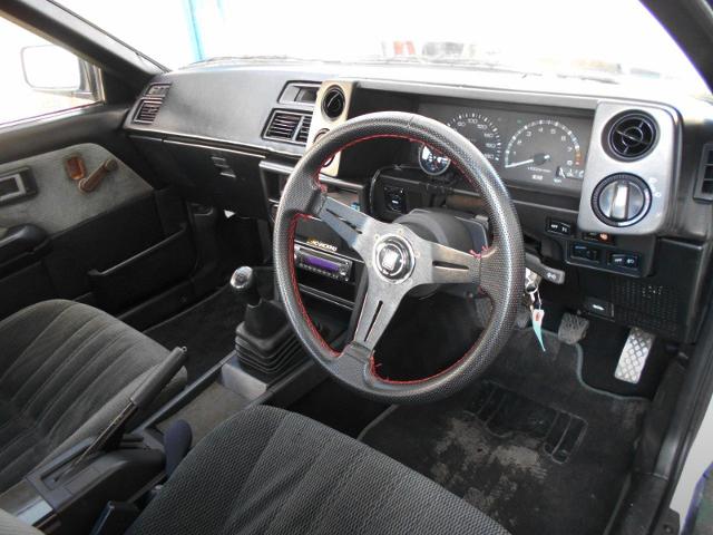 INTERIOR OF AE86 LEVIN GT-APEX.
