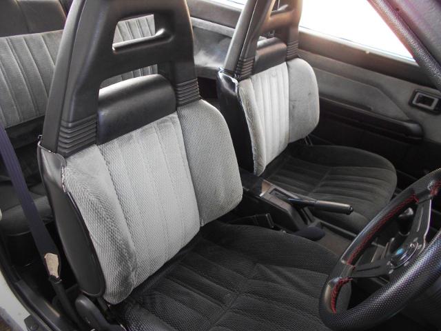 INTERIOR SEATS OF AE86 LEVIN GT-APEX.