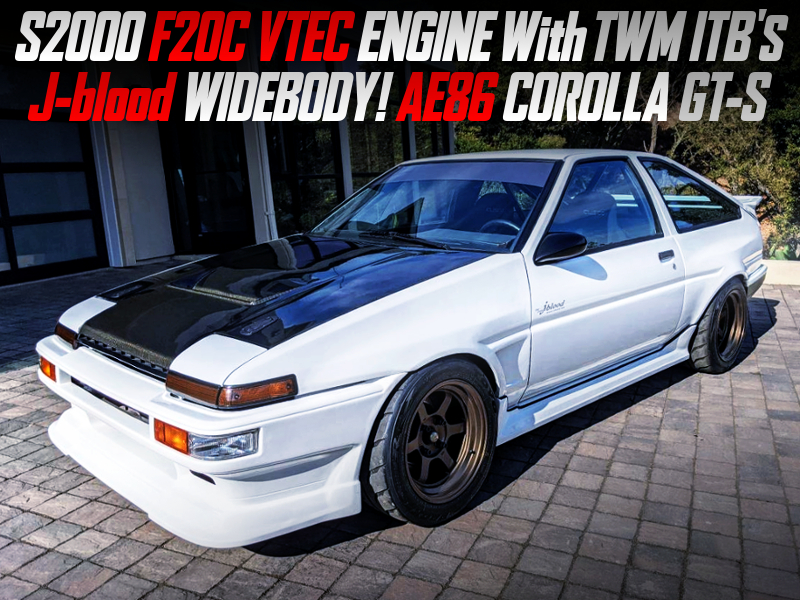 F20C With TWM ITBs And 6MT INTO AE86 COROLLA GT-S J-Blood WIDEBODY.