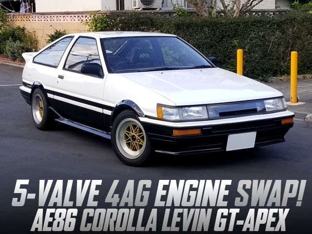 5-VALVE 4AG SWAPPED AE86 LEVIN 3-DOOR GT-APEX.