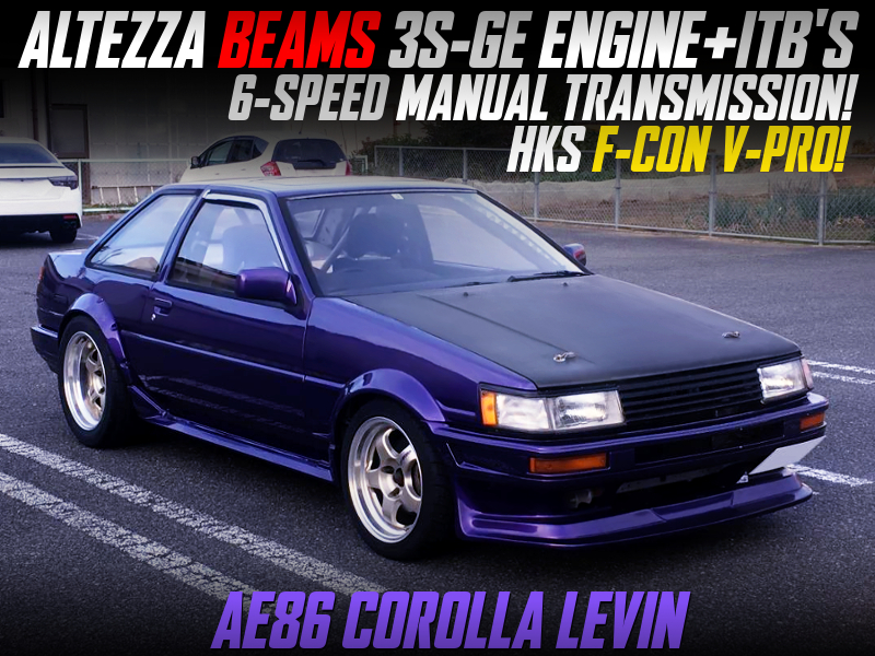 ALTEZZA 3S-GE With ITB And 6MT SWAPPED AE86 LEVIN 2-DOOR.