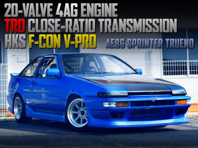 20V 4AG And TRD CLOSE-RATIO GEARBOX INTO AE86 TRUENO GT-APEX.