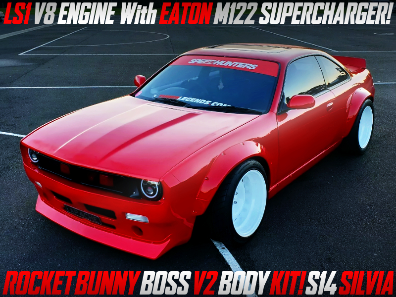 SUPERCHARGED LS1 into S14 SILVIA ROCKET BUNNY BOSS V2.