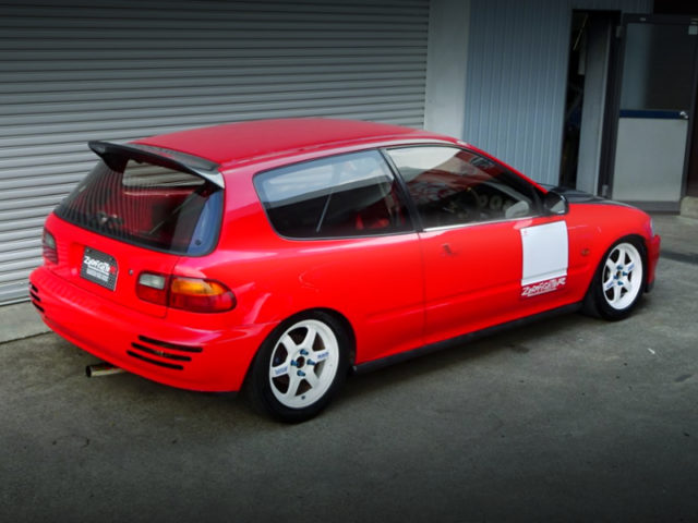 REAR EXTERIOR OF EG6 CICIC HATCH SiR2 TO RED COLOR.