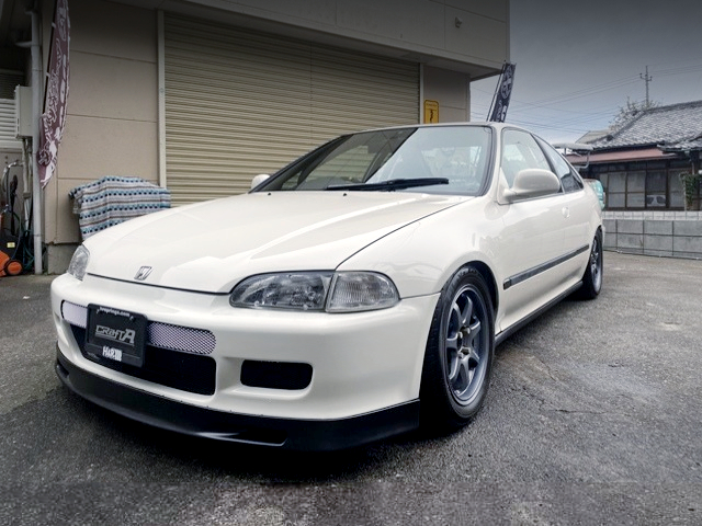 FRONT EXTERIOR OF EJ1 CIVIC COUPE.