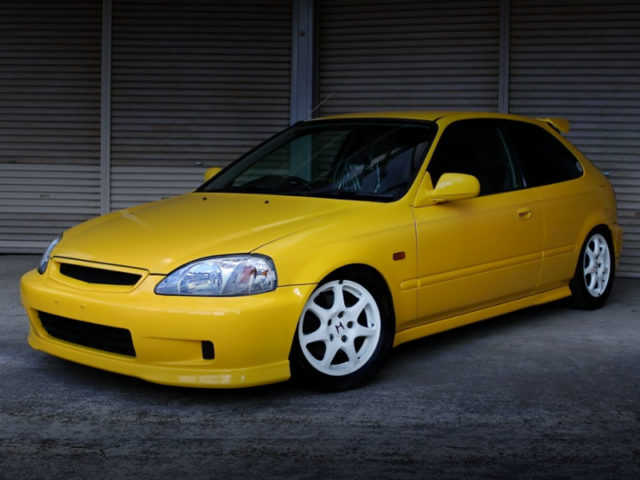 FRONT EXTERIOR OF EK3 CIVIC VTi TO TYPE-R CONVERSION.