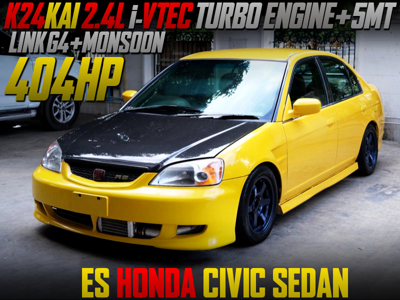 K24 iVTEC TURBO ENGINE INTO CIVIC FERIO OF 404HP.