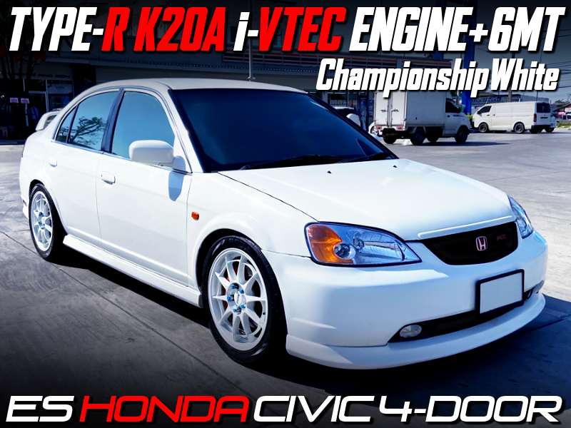K20A i-VTEC ENGINE and 6MT SWAPPED ES CIVIC SEDAN.