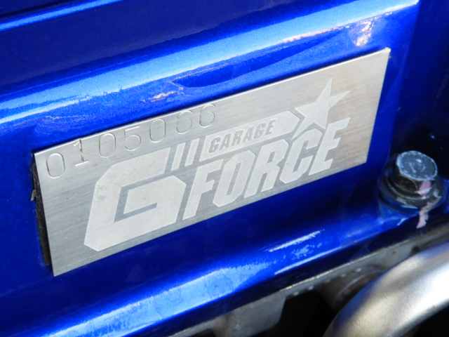 G-FORCE SERIAL PLATE.