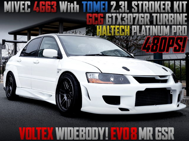 4G63 With TOMEI 2.3L KIT And GTX3076R TURBO INTO EVO 8 MR GSR WIDEBODY.
