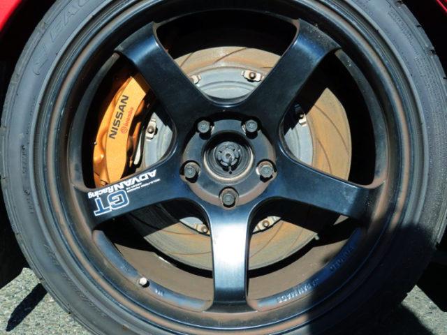 REAR R35 GT-R BRAKE CONVERSION.