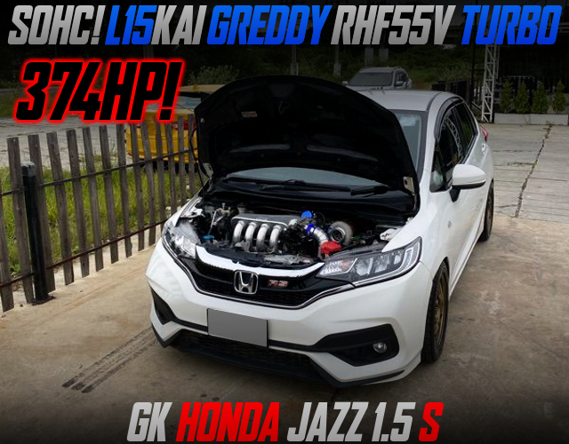 L15KAI GREDDY RHF55V TURBO INTO GE JAZZ TO 374HP.