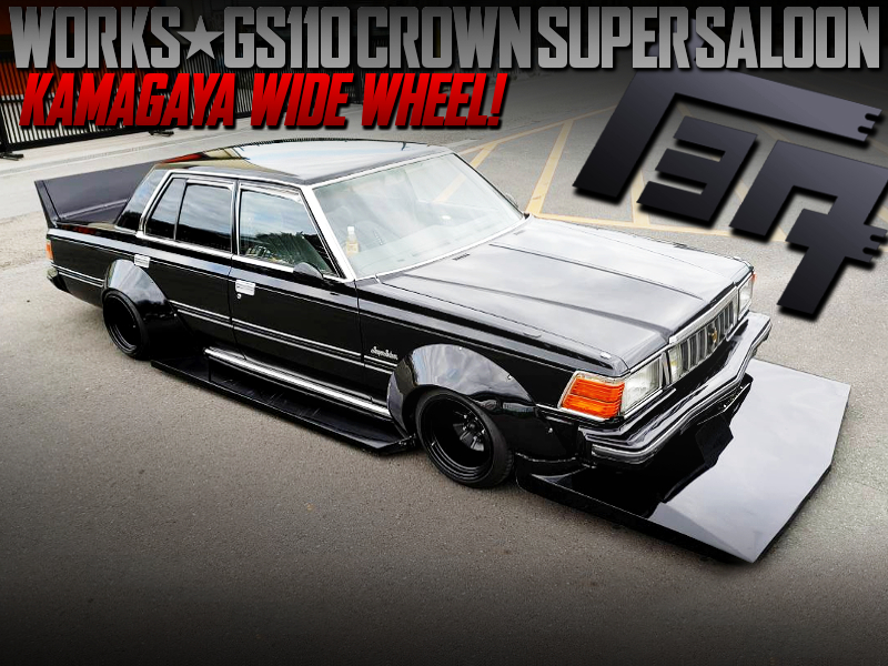 WORKS WIDEBODY TO GS110 CROWN SUPER SALOON BLACK.