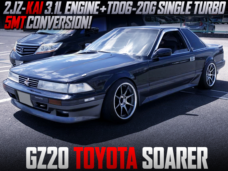 2JZ-GTE With HKS 3.1L KIT And TD06-20G TURBINE INTO GZ20 SOARER.