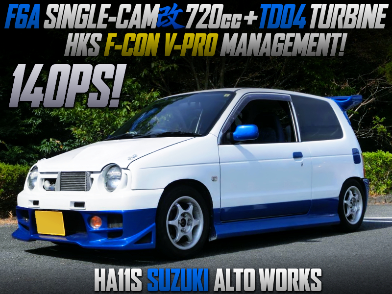 F6A SINGLE-CAM KAI 720cc With TD04 TURBO INTO HA11S ALTO WORKS.