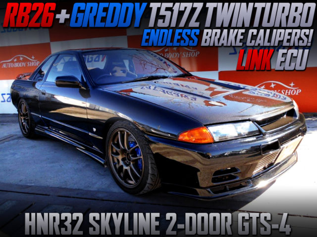 RB26 SWAP With T517Z TWINTURBO And LINK ECU INTO HNR32 SKYLINE 2-DOOR.