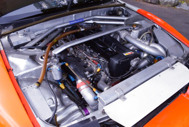 RB26 GARRETT TWINTURBO ENGINE OF JECS SKYLINE R32 JGTC 1994.
