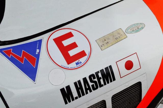 RACING DRIVER'S M.HASEMI STICKER.