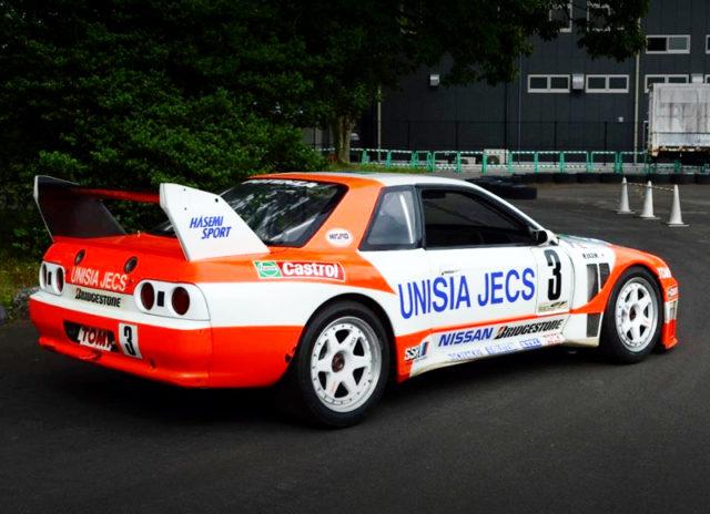 REAR EXTERIOR OF UNISIA JECS SKYLINE R32 JGTC 1994.