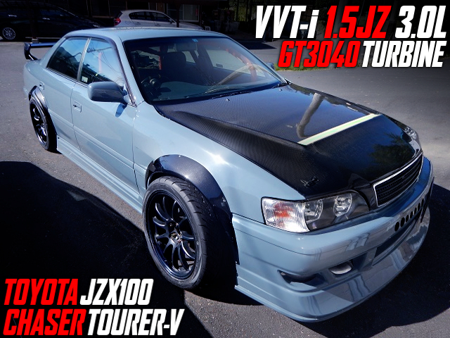 1.5JZ 3000cc With GT3040 TURBO INTO JZX100 CHASER TOURER-V.