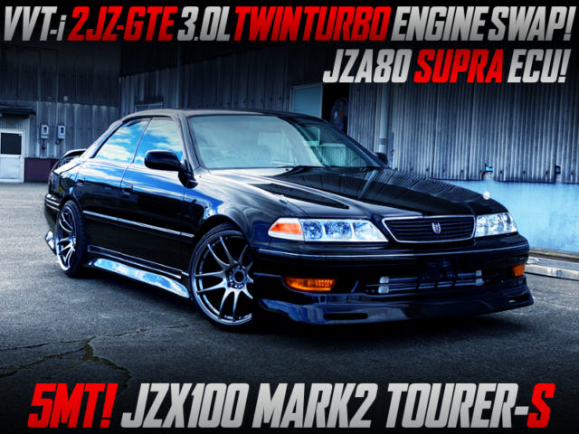2JZ-GTE TWINTURBO SWAPPED JZX100 MARK2 TOURER-S TO BLACK.