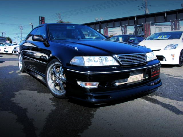 FRONT EXTERIOR OF JZX100 MARK2 TO BLACK.