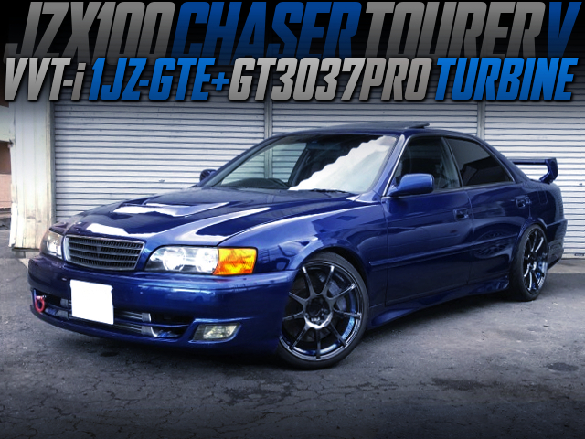GT3037PRO TURBOCHARGED JZX100 CHASER TOURER-V BLUE.