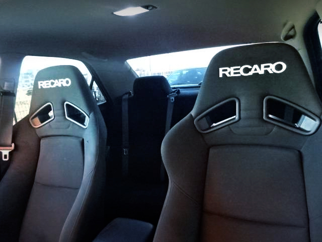 RECARO BUCKET SEATS.