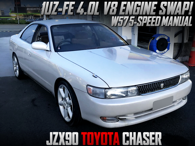1UZ-FE V8 ENGINE And W57 5MT INTO JZX90 CHASER.