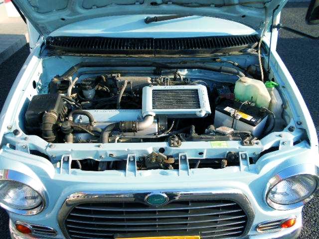 JB 660cc TURBO INLINE-FOUR ENGINE.