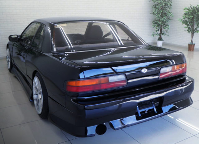 REAR EXTERIOR OF S13 ONEVIA BLACK.