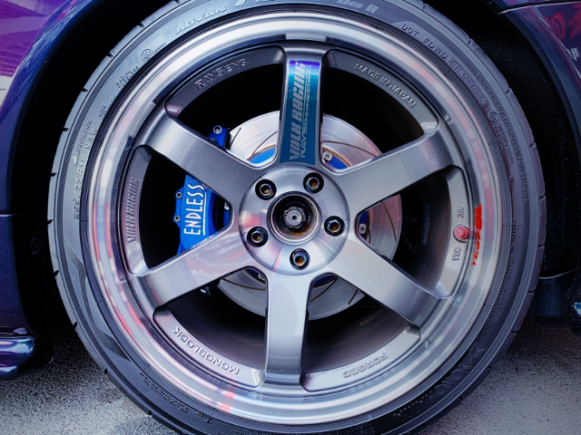 REAR TE37SL WHEEL AND ENDLESS BRAKE.