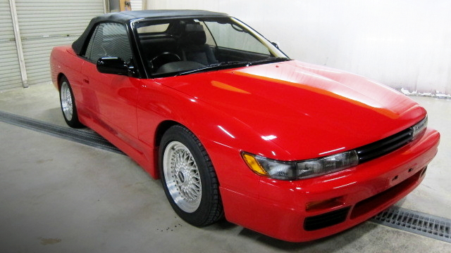 FRONT FACE OF S13 SILVIA CONVERTIBLE TURBO.