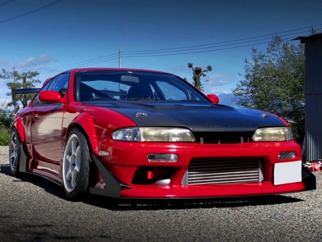 FRONT EXTERIOR OF S14 ZENKI SILVIA TO RED.