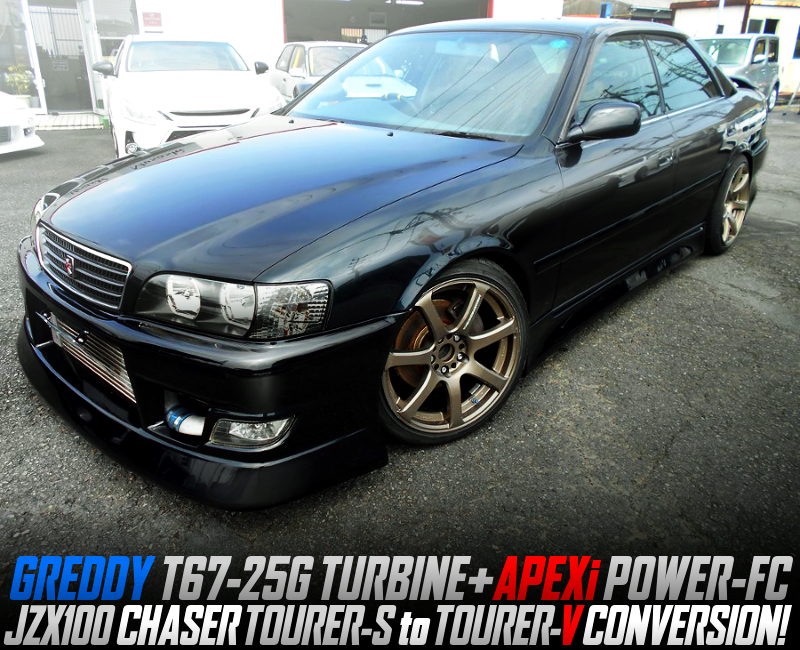 T67-25G TURBO With POWER-FC And 5MT INTO JZX100 CHASER TOURER-S TO TOURER-V CONVERSION.