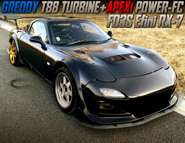 T88 TURBINE AND POWER-FC INTO FD3S Efini RX7 WIDEBODY.