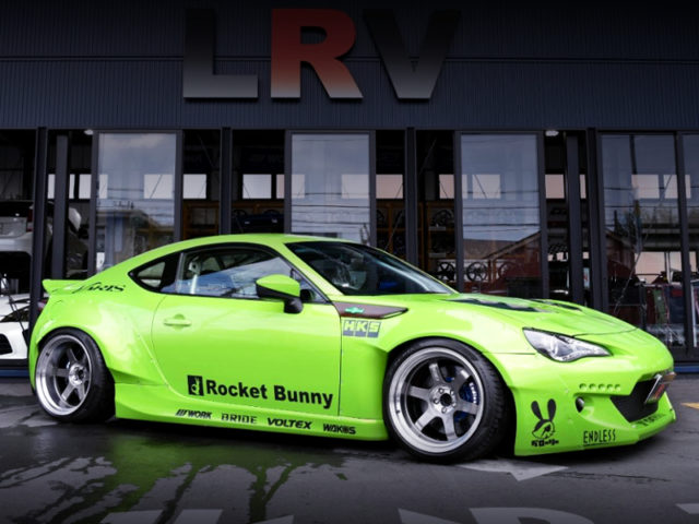 RIGHT-SIDE EXTERIOR OF TOYOTA 86GT WIDEBODY.