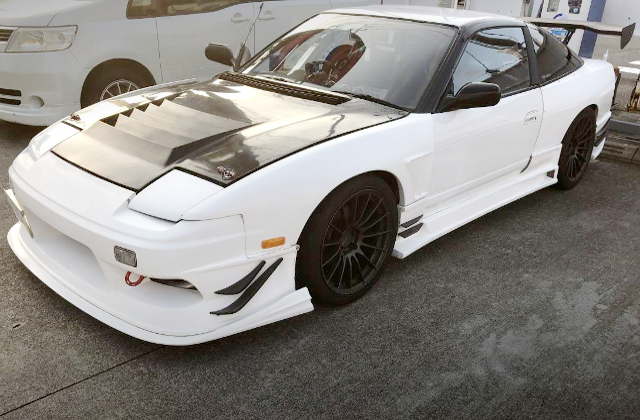 FRONT EXTERIOR OF 180SX WIDEBODY.