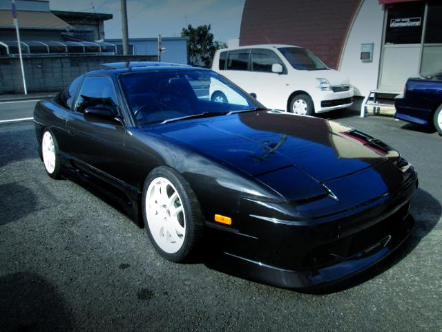 FRONT EXTERIOR OF 180SX TYPE-2 TO BLACK.