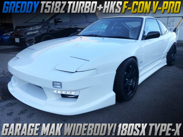 T518Z TURBO And F-CON V-PRO INTO 180SX TYPE-X GARAGE-MAK WIDEBODY.