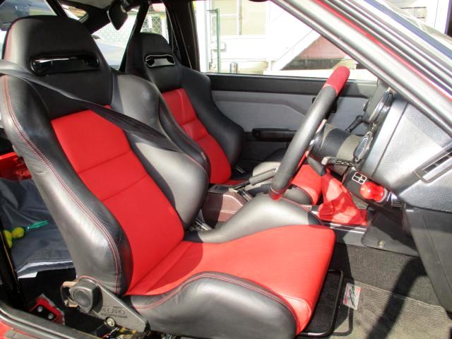 INTERIOR OF SEMI BUCKET SEATS.